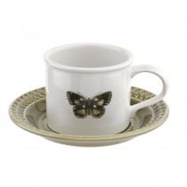 Portmeirion Botanic Garden Harmony Breakfast Cup And Saucer, Moss Green