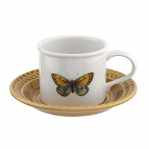Portmeirion Botanic Garden Harmony Breakfast Cup And Saucer, Amber