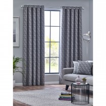 Belfield Byron Eyelet Curtain, 112cm x 137cm, Graphite