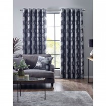 Belfield Forest Eyelet Curtain, 112cm x 137cm, Charcoal
