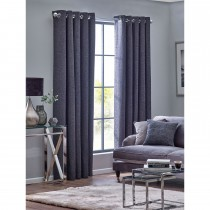 Belfield Orion Eyelet Curtain, 112cm x 137cm, Graphite