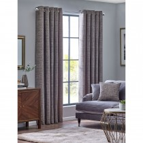 Belfield Orion Eyelet Curtain, 112cm x 137cm, Zinc