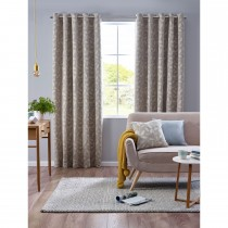 Belfield Pippa Eyelet Curtain, 112cm x 137cm, Duck Egg