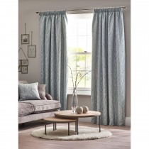 Belfield Sienna Tape Curtain, 112cm x 137cm, Duck Egg