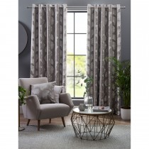 Belfield Ginkgo Eyelet Curtain, 112cm x 137cm, Steeple Grey