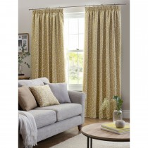Belfield Sienna Tape Curtain, 112cm x 137cm, Ochre