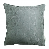 The Châteaus By Angel Strawbridge Blakely Piped Cushion, 43cm x 43cm, Azure
