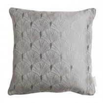 The Châteaus By Angel Strawbridge Blakely Piped Cushion, 43cm x 43cm, Silver
