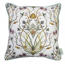 The Châteaus By Angel Strawbridge Potagerie Piped Cushion, 43cm x 43cm, Cream