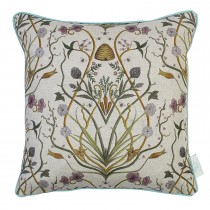 The Châteaus By Angel Strawbridge Potagerie Piped Cushion, 43cm x 43cm, Linen