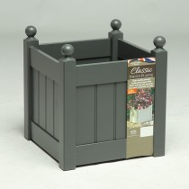 AFK Classic Square Planter 380, Charcoal
