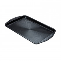 "Circulon Large Oven Tray, 10'' X 15"", Black"