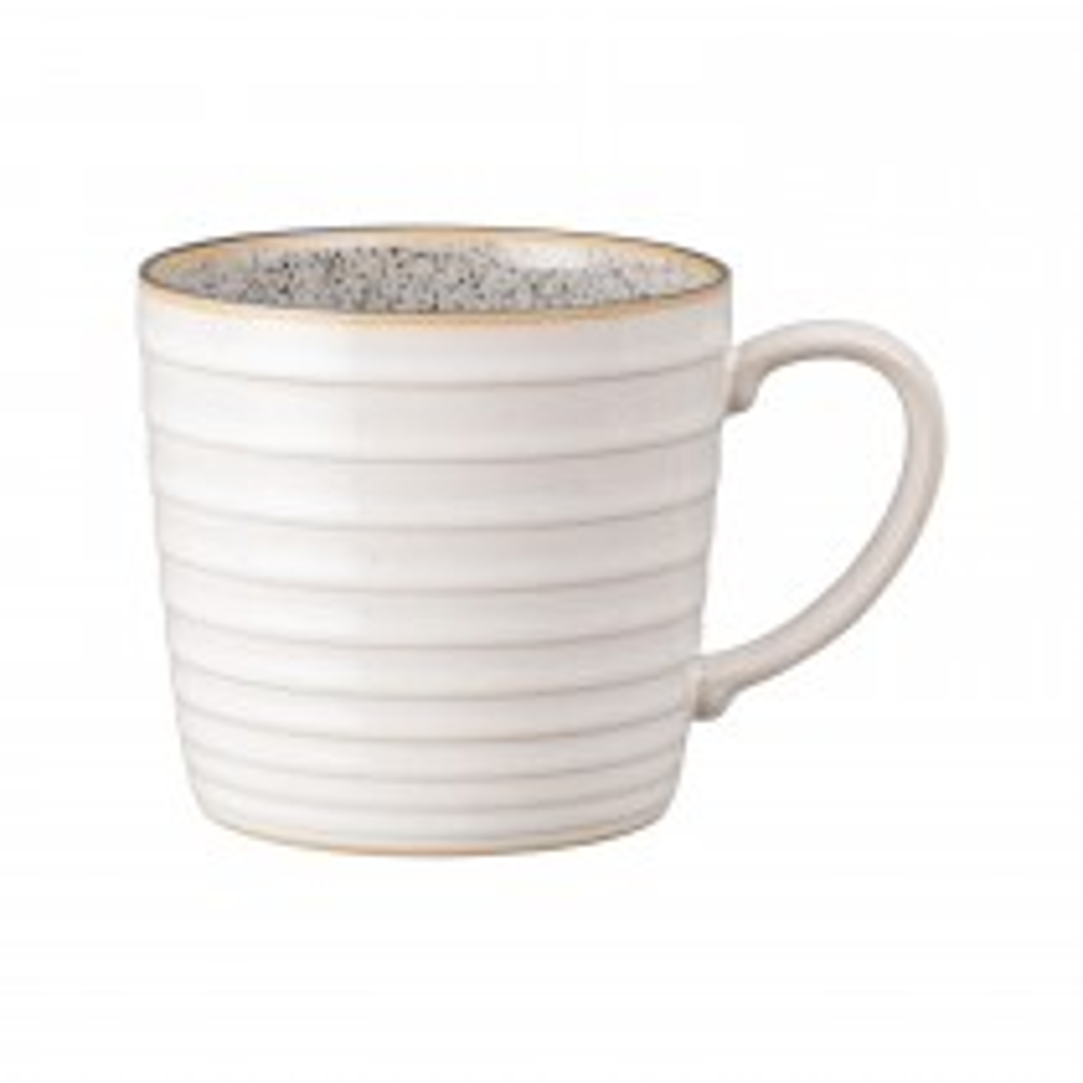 Denby Studio Grey Ridged Mug, White