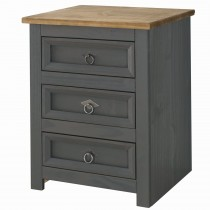 Core Products Connor Carbon 3drw Bedside 3 Draw