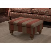 Duresta Beresford Storage Fabric Footstool, Capri Stripe Cinnamon