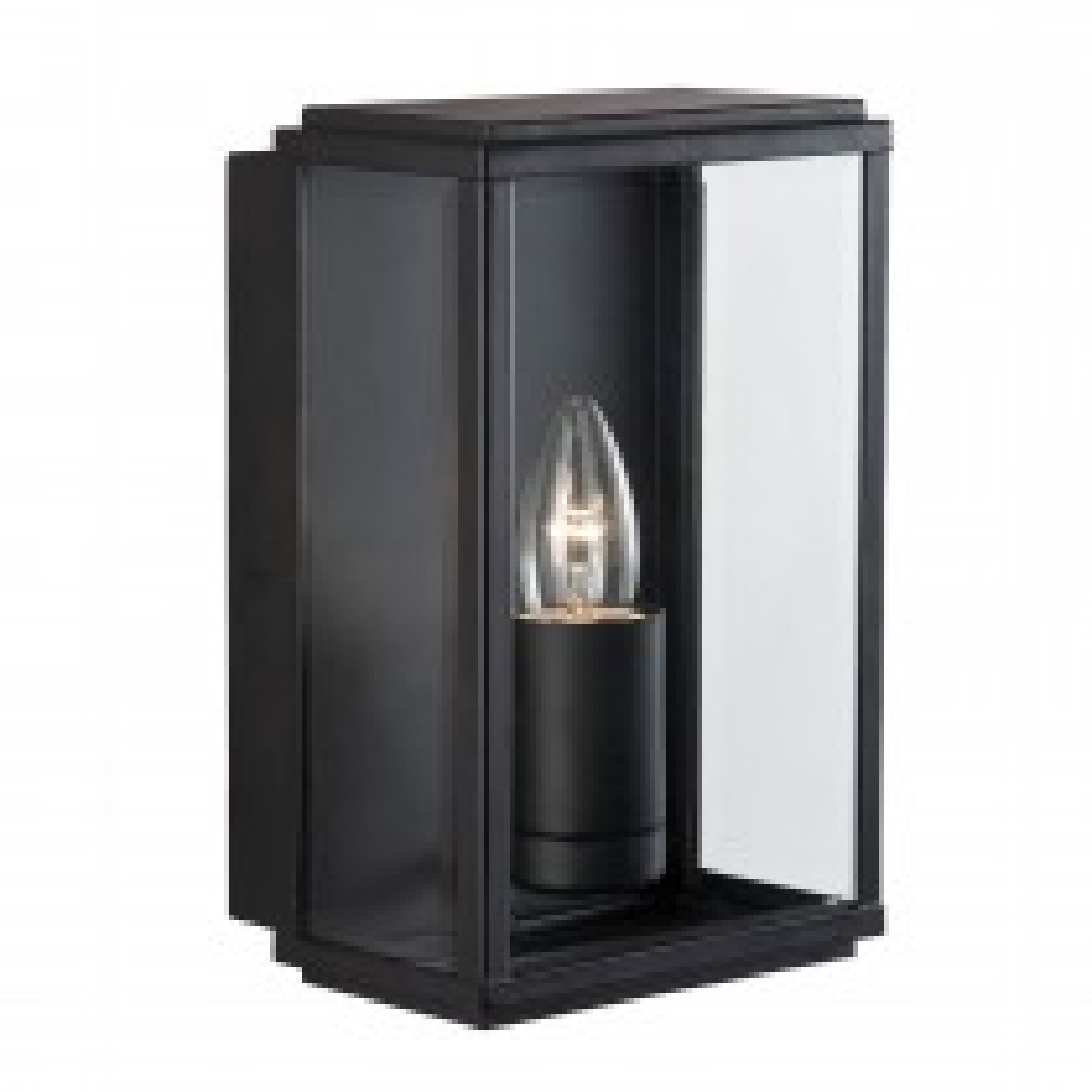 Searchlight Box Outdoor Porch Light, Black