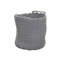 Casa Cotton Rope Basket Small, Grey