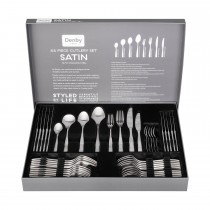 Denby Satin 44 Piece Cutlery Set, Stainless Steel