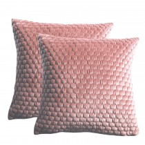 Gallery Honeycomb Cushion 45x45cm, Blush