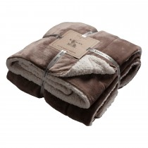 Gallery Sherpa Throw 152x177cm, Taupe
