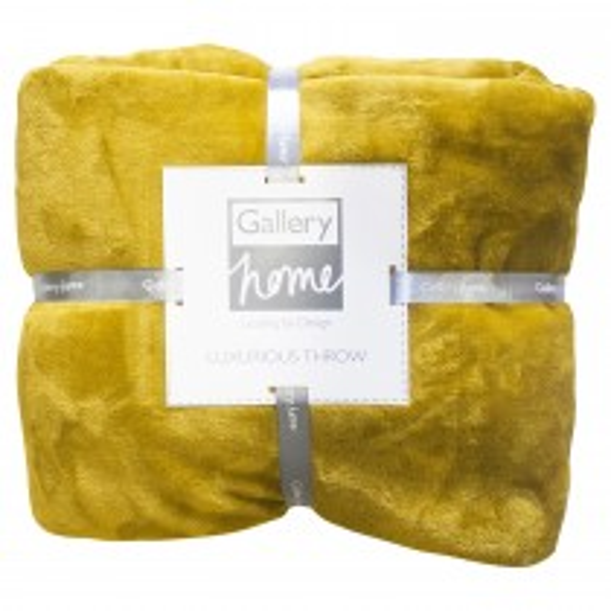 Gallery Flannel Fleece Throw 140x180cm, Chartreuse