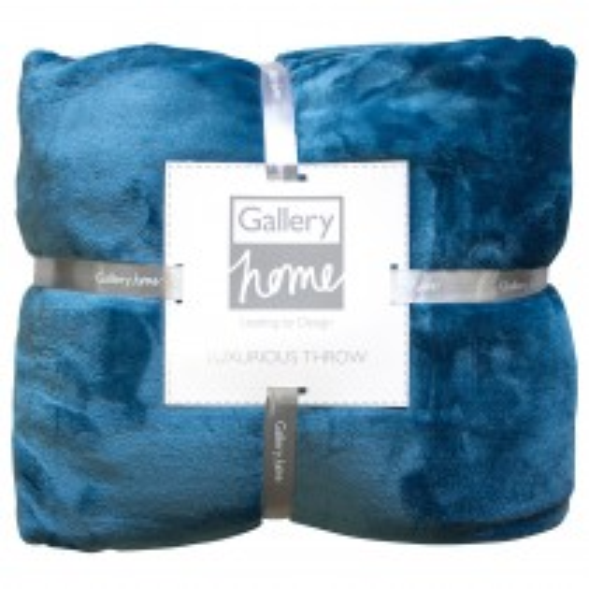 Gallery Flannel Fleece Throw 140x180cm, Teal