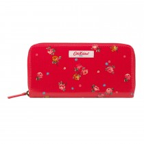 Cath Kidston Continental Zip Wallet, Red/pink