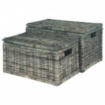 Casa Kubu Large Obong Chest, Grey