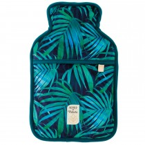 Aroma Home Green Palm Hot Water Bottle, Black/green