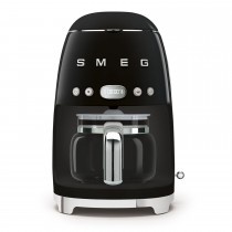 Smeg DCF02BLUK Retro Style Coffee Machine, Black