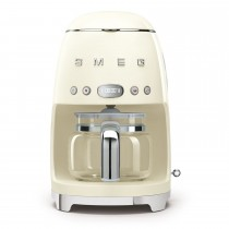 Smeg DCF02CRUK Retro Style Coffee Machine, Cream