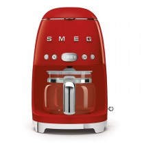 Smeg DCF02RDUK Retro Styler Coffee Machine, Red