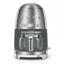 Smeg DCF02SSUK Retro Style Coffee Machine, Stainless Steel