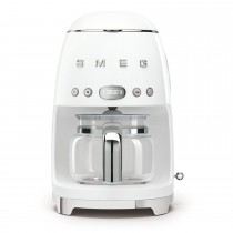 Smeg DCF02WHUK Retro Style Coffee Machine, White