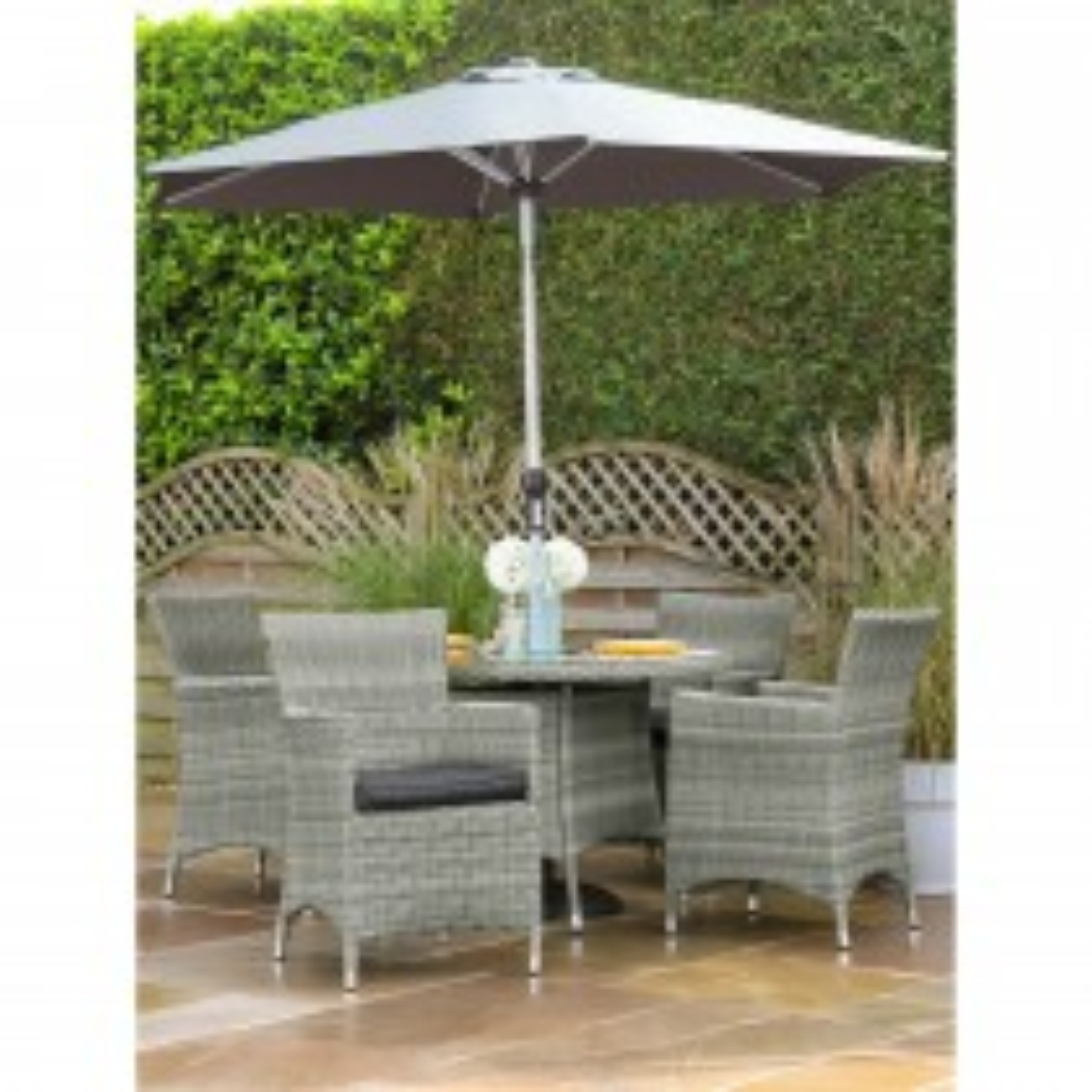 Hartman Westbury 4 Seater Garden Dining Set, Slate