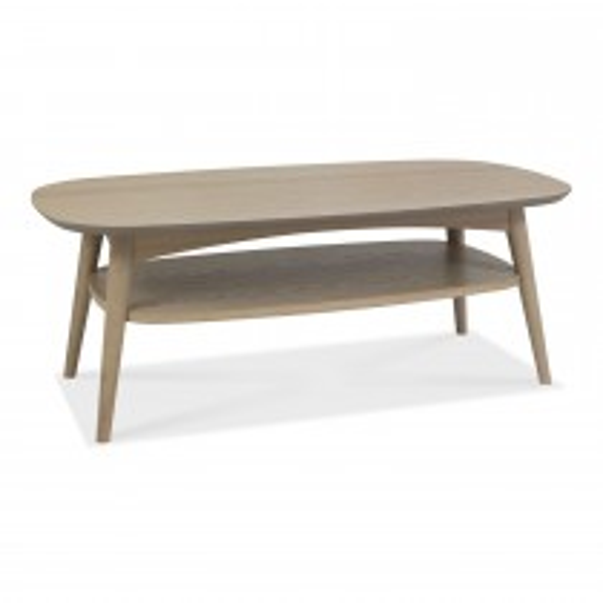Casa Ottawa Coffee Table With Shelf, Scandi Oak