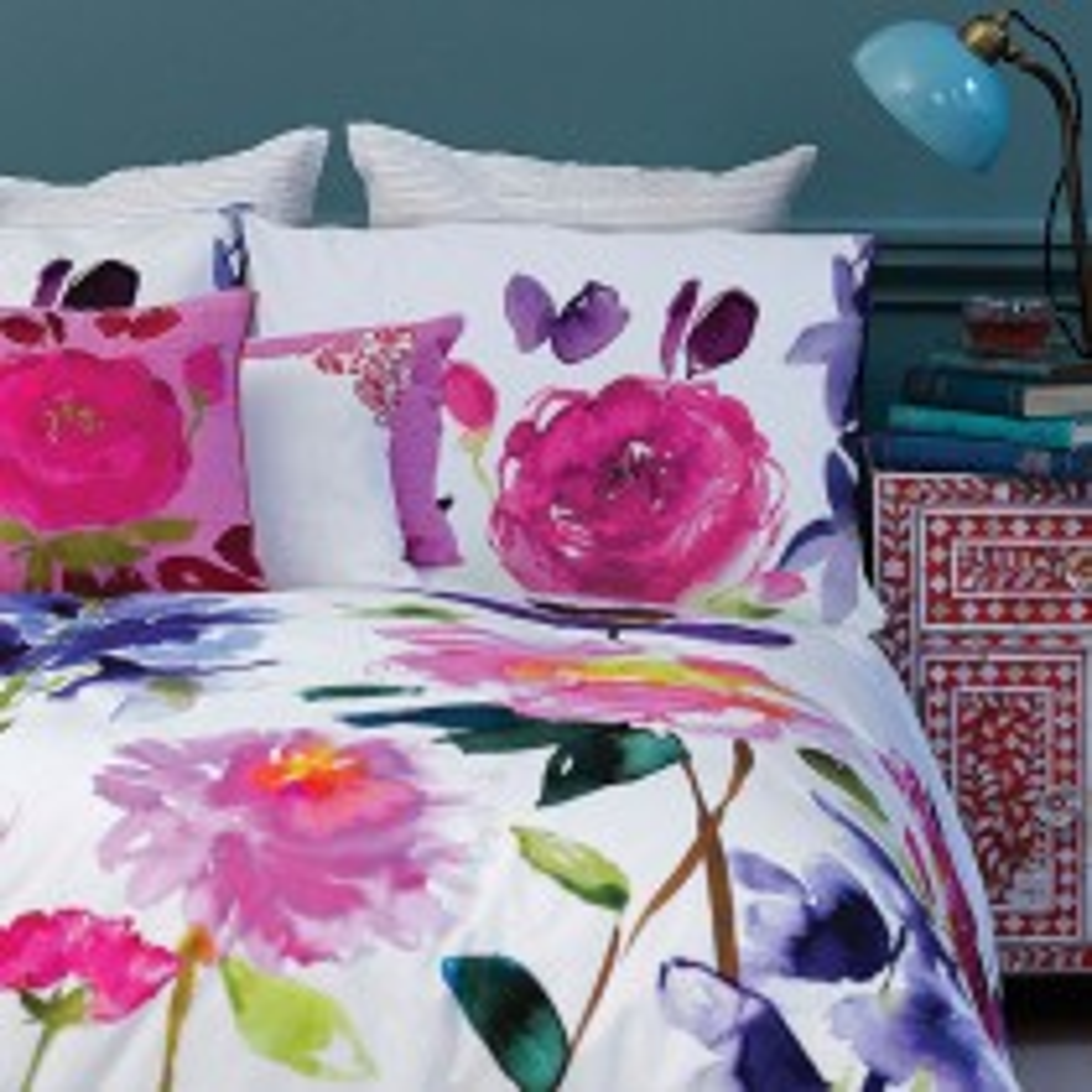 Bluebellgray Taransay Single Pillowcase Single, Multi & White