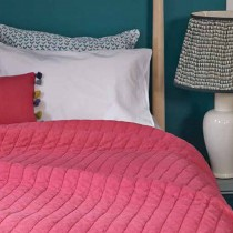 Bluebellgray Lipstick Washed Quilt, Pink