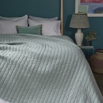 Bluebellgray Spa Washed Quilt, Spa Blue