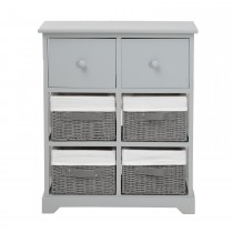 Casa Unit With 6 Basket Drawers, Grey