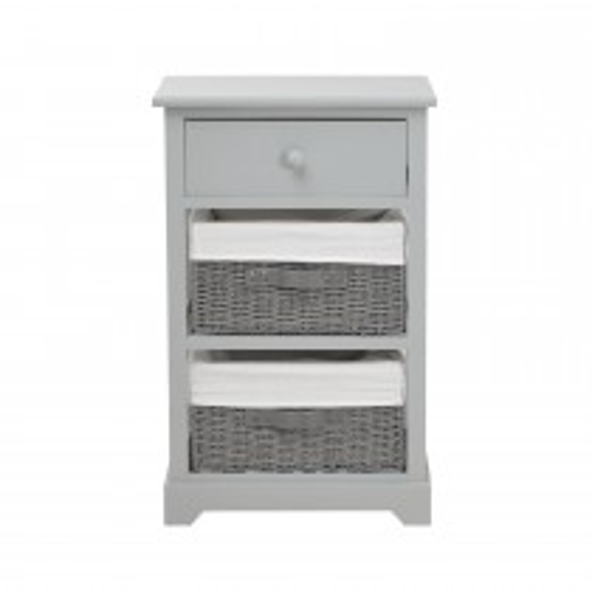 Casa 2 Basket 1 Drawer Unit, Grey