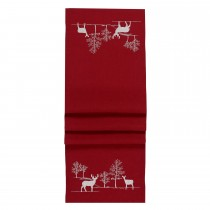 Walton And Co Winter Scene Runner Red, Red/white
