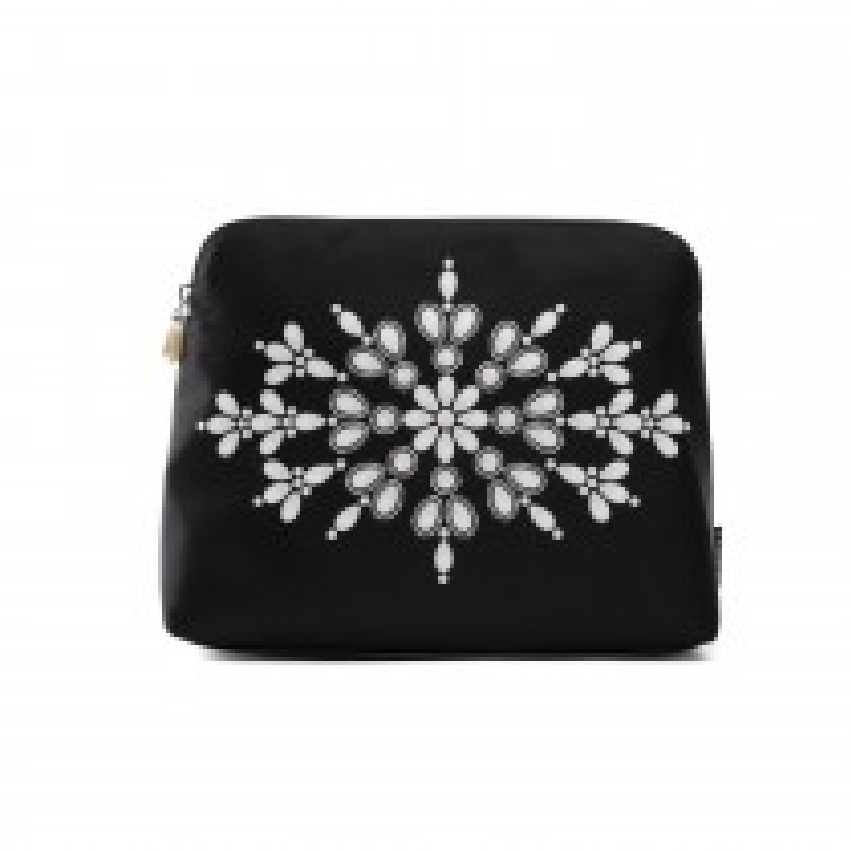Danielle Exclusive Creations Pearl Floral Large Beauty Bag, Black l