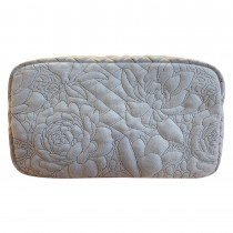 Danielle Exclusive Creations Embroidery Floral Beauty Purse, Dove Grey