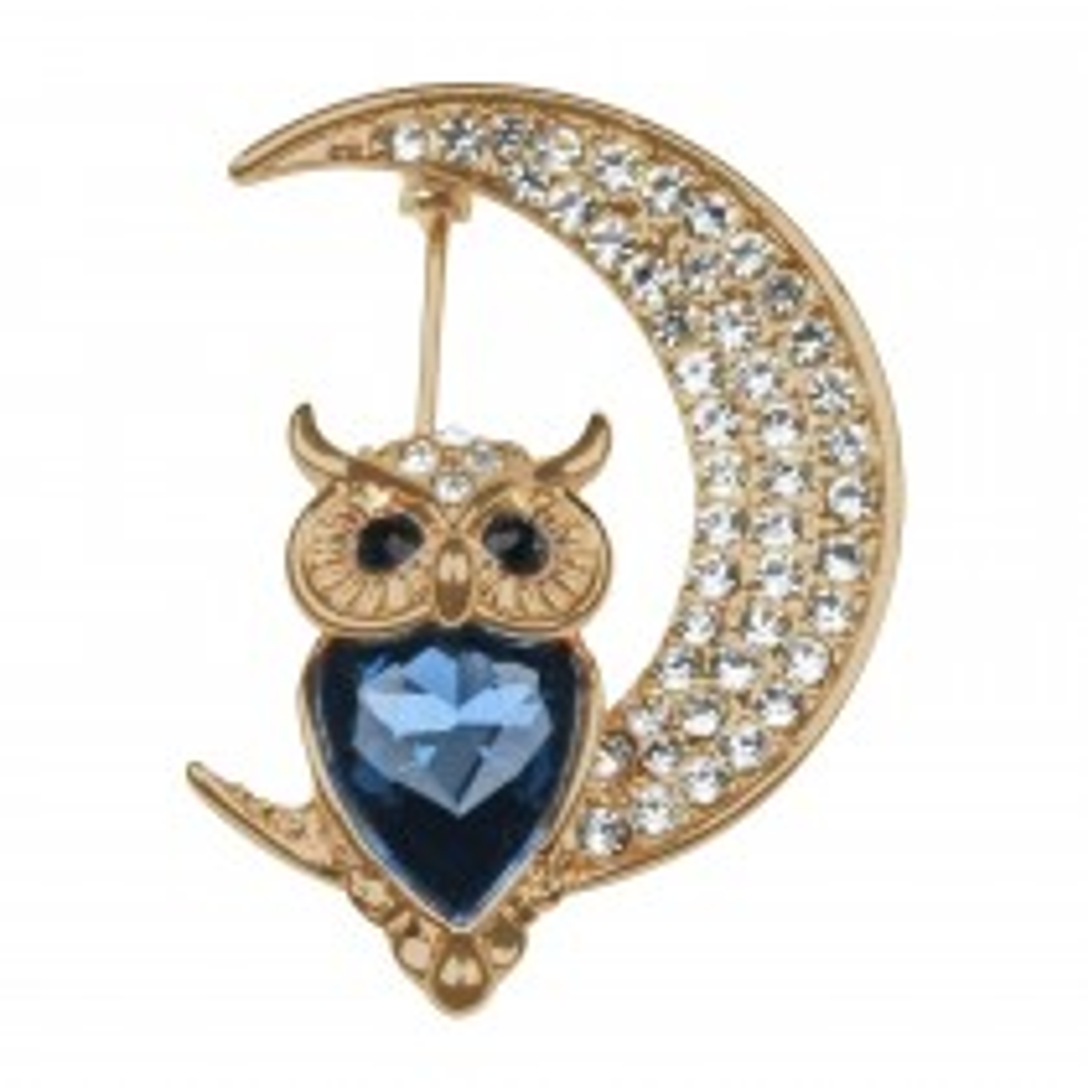 Indulgence Crystal/Montana Owl Brooch, Rose Gold