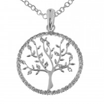 Tree Of Life Incircle Necklace, Silver