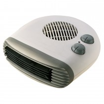Kingavon 2kw Flat Fan Heater, White