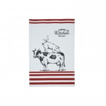 Kitchencraft Tea Towel 2 Pack, White/black