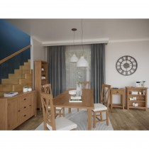Casa Radstock 1.2m Extendable Table & 4 Chairs, Brown