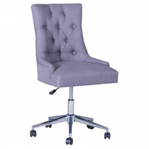 Casa Office Curve Button Back Chair, Grey